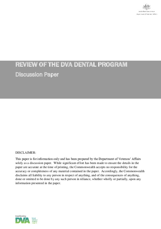 Dental Review - Discussion Paper - ESO and Client.pdf