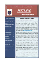 Qld Branch Newsletter - Hotline - March 2014