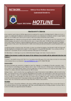 Qld Branch Newsletter - Hotline - August 2012