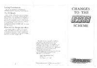 Changes to the DFRDB Scheme