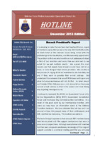 Qld Branch Newsletter - Hotline - December 2013
