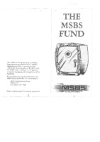 The MSBS Fund