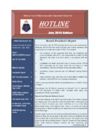 Qld Branch Newsletter - Hotline - July 2015